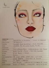 Mehron PFW 14 face chart